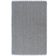 Black & White Herringbone Cotton Bathroom Towel