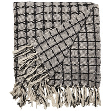 Geometric Lama Cotton Throw