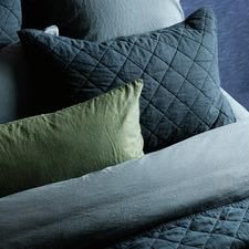 Navy Soho European Linen Quilt