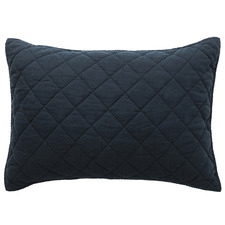 Navy Soho European Linen Standard  Pillowcase