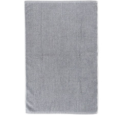Grey & White Tweed Cotton Bathroom Towel