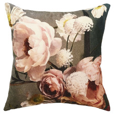 Floral Peony Cotton Cushion