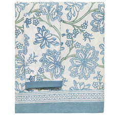 Blue Arabella Cotton Tablecloth