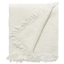 Fringed Ava Linen Throw