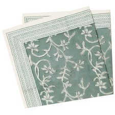Floral Evergreen Cotton Table Napkins (Set of 4)