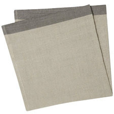 Natural & Graphite Montalto Linen-Blend Table Napkins (Set of 4)