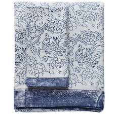 Blue Willow Cotton Tablecloth