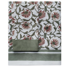 Sage Green Fleur Cotton Tablecloth