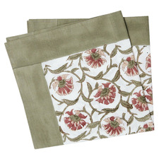 Sage Green Fleur Cotton Table Napkins (Set of 4)