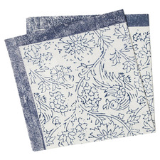 Blue Willow Cotton Table Napkins (Set of 4)