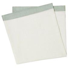White & Sea Mist Montalto Linen-Blend Table Napkins (Set of 4)