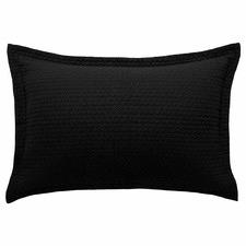 Black Aspen Cotton Standard Pillowcase