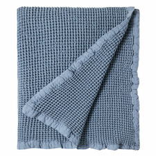 Waffle Hepburn Rain Cotton Throw