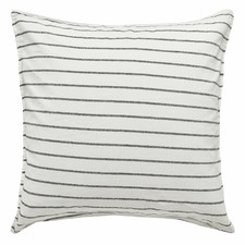 Black & White Stripe Loft Cotton-Blend European Pillowcase