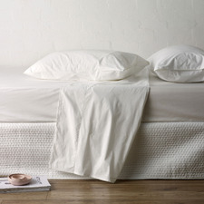 White Studio Cotton Fitted Sheet
