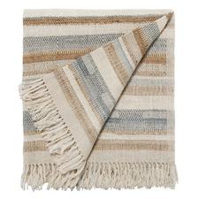 Sand Amalfi Wool-Blend Throw