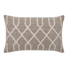 Light Taupe Raphael Rectangular Cotton Cushion