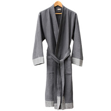 Charcoal Truva Turkish Cotton Bathrobe