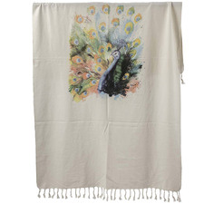 Peacock Spirit Animal Turkish Cotton Towel