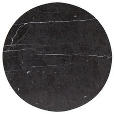 Black Henkle Circle Nero Marquina Marble Trivet