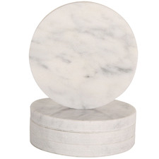 Circle Carrara Coasters (Set of 4)