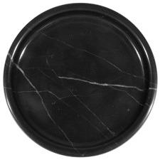 Round Nero Marquina Marble Jewellery Tray