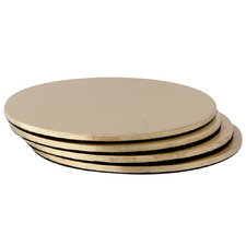 Round Brass Coasters (Set of 4)
