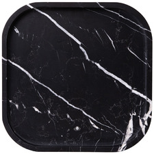 Black Nero Marquina Marble Square Tray