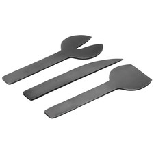 3 Piece Geo Metal Cheese Knife Set