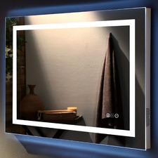 Jantin Rectangular LED Wall Mirror