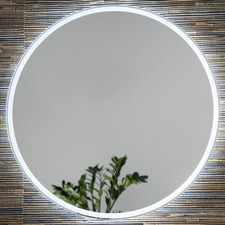Vela Round Backlit Wall Mirror