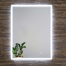 Quay Long Front Lit Mirror with Demister