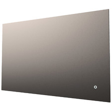 Silver Rectangle Backlit Mirror with Demister