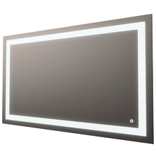 Silver Rectangle Frontlit Mirror with Demister