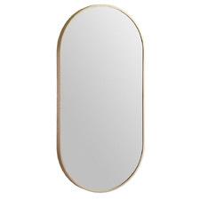Modern 91cm Oblong Aluminium Wall Mirror