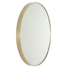 Modern 81cm Round Aluminium Wall Mirror
