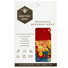 3 Piece Hearty Beeswax Kitchen Wrap Set