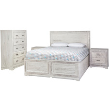 White Seaford Wooden Queen Bedroom Suite Set