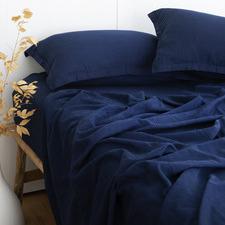 Indigo Smitham Bamboo & Cotton Sheet Set
