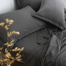 Slate Habel Bamboo & Cotton Sheet Set
