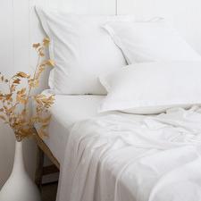 White Stanton Bamboo & Cotton Sheet Set