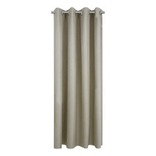 Taupe Porter Single Panel Eyelet Curtain