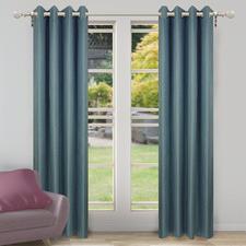 Teal Porter Single Panel Eyelet Curtain