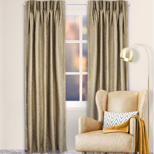 Vermouth Reno Pinch Pleat Blockout Curtains (Set of 2)