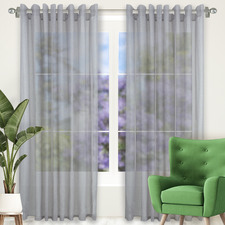 Smoke Tampa Single Panel Eyelet Curtain