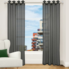 Pewter Urban Single Panel Eyelet Curtain