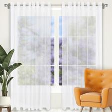 Pearl Tampa Single Panel Eyelet Curtain