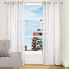 Mushroom Strand Single Panel Eyelet Curtain