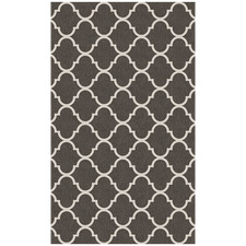 Grey & White Trellis Gate Rug