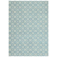 Blue Floral Outdoor Rug